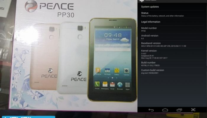 Peace PP30 Tablet